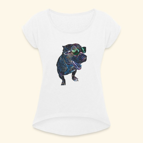 KABOOBI - Camiseta con manga enrollada mujer