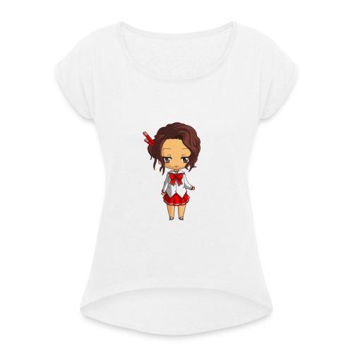 Chibi Amelia by Calyss - T-shirt à manches retroussées Femme