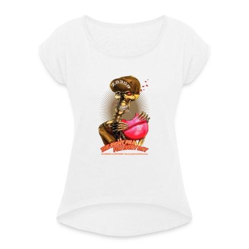 headCRASH pills 2 - Frauen T-Shirt mit gerollten Ärmeln