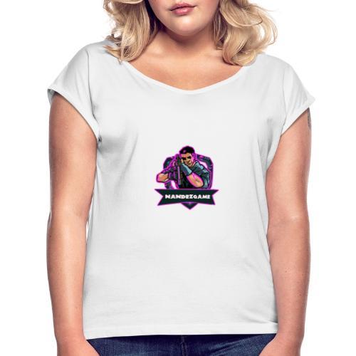 1584310697002 - Frauen T-Shirt mit gerollten Ärmeln