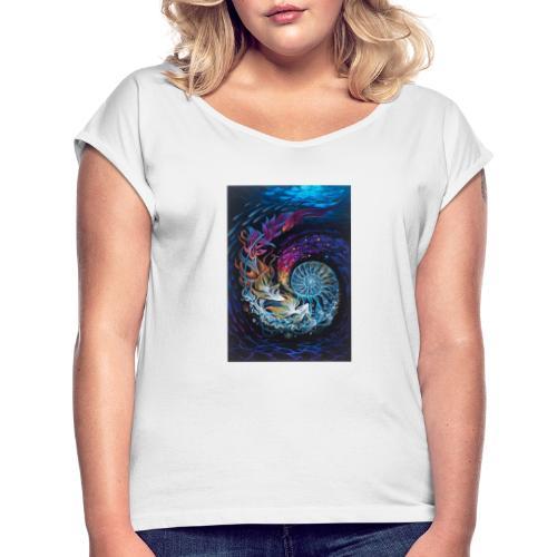 espiral ocea nica - Camiseta con manga enrollada mujer