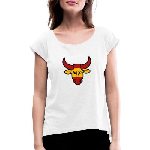 Toro Face - Camiseta con manga enrollada mujer