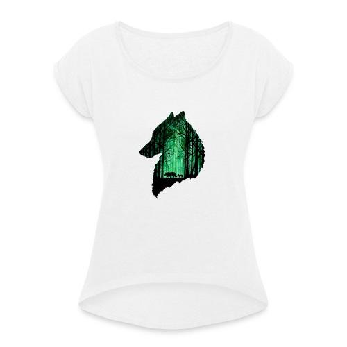 1568142566110 - T-shirt à manches retroussées Femme
