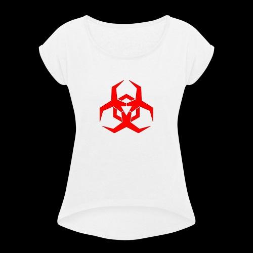 Radioaktive - Dame T-shirt med rulleærmer