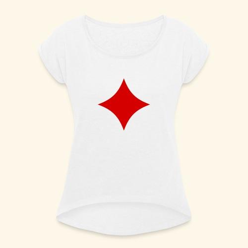 Poker - Frauen T-Shirt mit gerollten Ärmeln