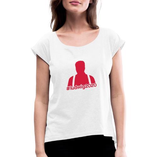 Ludwig Silhouette - Frauen T-Shirt mit gerollten Ärmeln