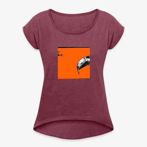 Beak Original Artwork - T-shirt med upprullade ärmar dam