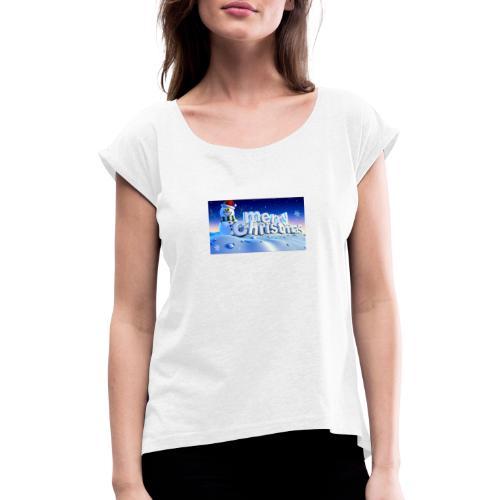 Shairon - Vrouwen T-shirt met opgerolde mouwen