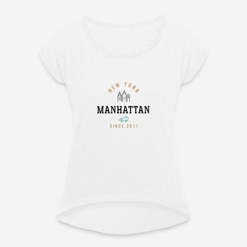 NEW YORK - MANHATTAN - Maglietta da donna con risvolti