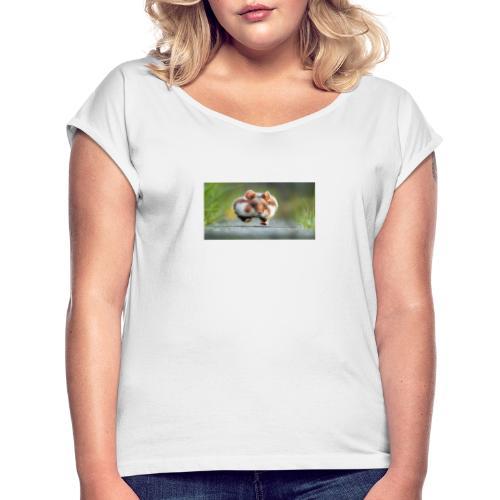 comedyphoto Julian Rad - T-shirt med upprullade ärmar dam