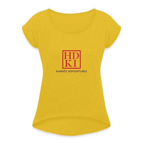 Karate Adventures HDKI - Women's T-Shirt with rolled up sleeves