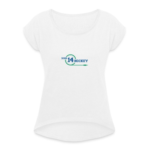 D14 HOCKEY LOGO - Women's T-Shirt with rolled up sleeves