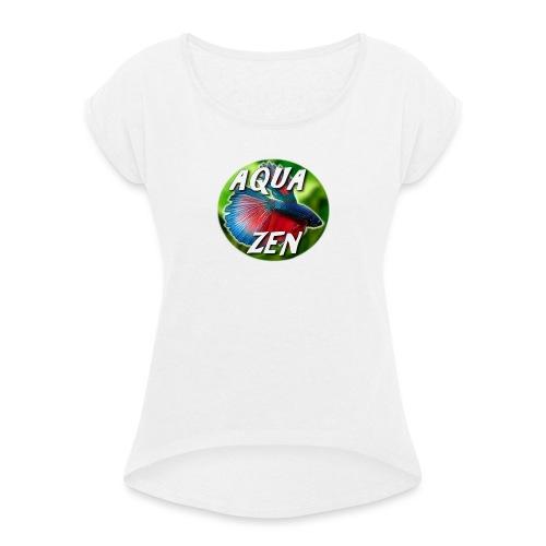 Aqua Zen - T-shirt à manches retroussées Femme