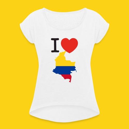 I love Colombia - Maglietta da donna con risvolti