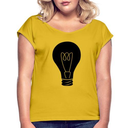 Glühbirne - Frauen T-Shirt mit gerollten Ärmeln