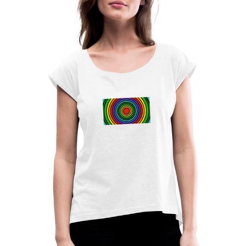 Kreise - Frauen T-Shirt mit gerollten Ärmeln