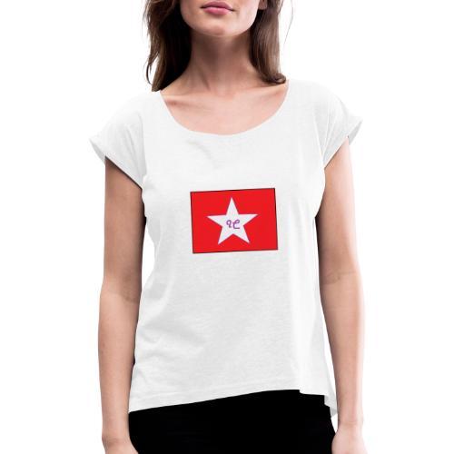 IC dam - T-shirt à manches retroussées Femme