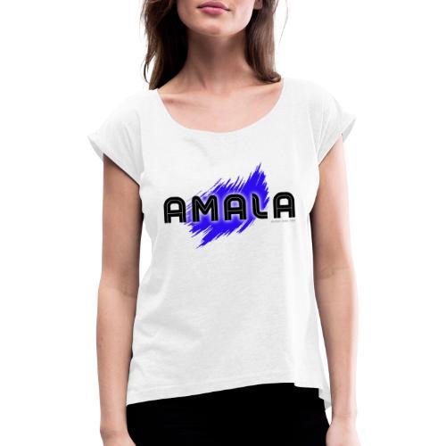 Amala, pazza inter (bianca) - Maglietta da donna con risvolti
