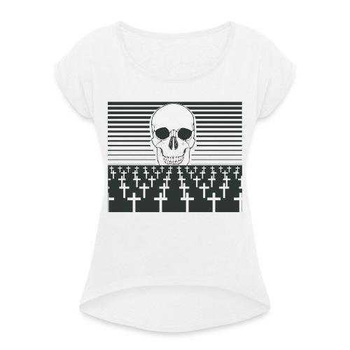 cimetière - T-shirt à manches retroussées Femme