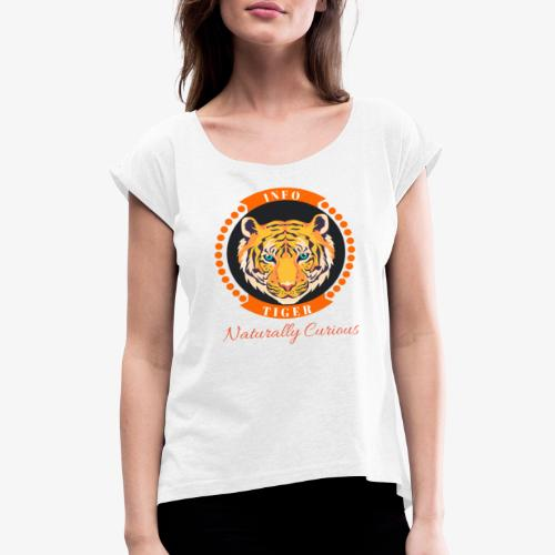 Info Tiger - Women's T-Shirt with rolled up sleeves