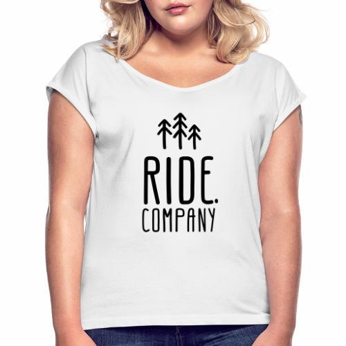RIDE.company Logo - Frauen T-Shirt mit gerollten Ärmeln