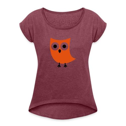 Uiltje - Vrouwen T-shirt met opgerolde mouwen