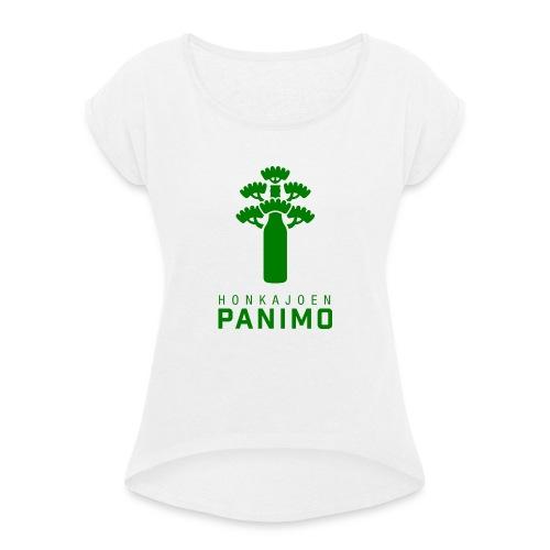 Honkajoen Panimo Logo - Naisten T-paita, jossa rullatut hihat