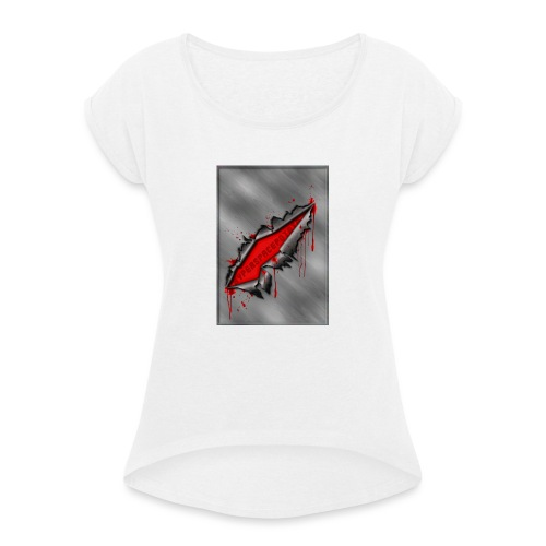Metal Crack Hyperspace Potato - Women's T-Shirt with rolled up sleeves