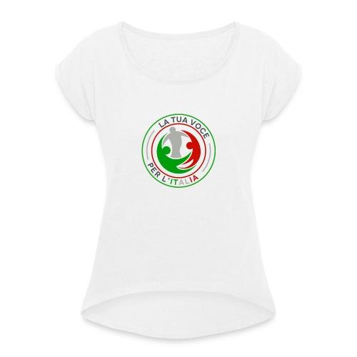 LA_TUA_VOCE_PER_ITALIA_01-png - Maglietta da donna con risvolti