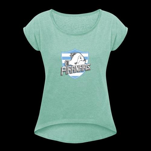 Logo Piranhas v5 - T-shirt à manches retroussées Femme
