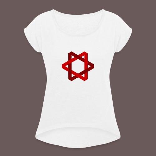 Two Triangles - Dame T-shirt med rulleærmer