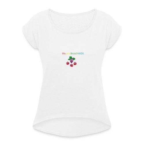 Vorlage2 - Frauen T-Shirt mit gerollten Ärmeln