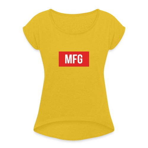 MFG on Youtube Logo - Women's T-Shirt with rolled up sleeves