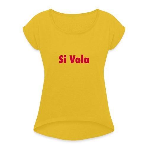 SiVola - Maglietta da donna con risvolti