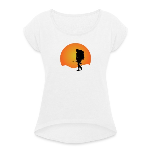 Capoeira me venceu - Women's T-Shirt with rolled up sleeves