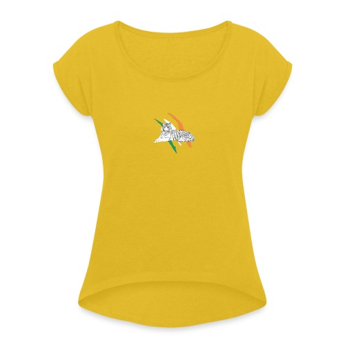 Celtictiger - Women's T-Shirt with rolled up sleeves