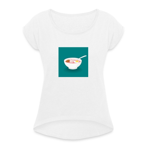 Bowl de fideos - Camiseta con manga enrollada mujer