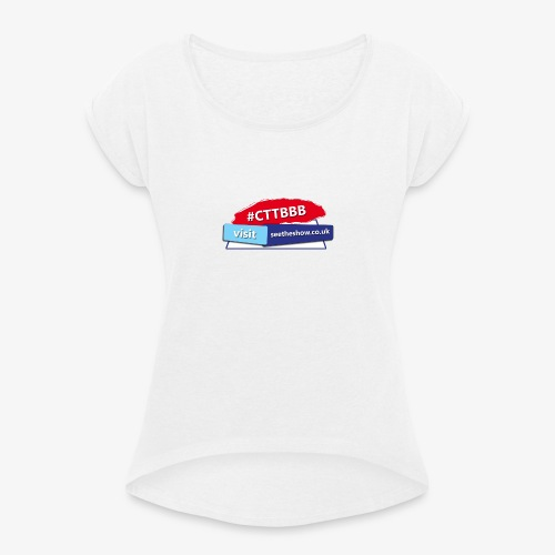 Committed to the Blues Hastag Logo - Women's T-Shirt with rolled up sleeves