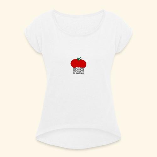 tomatoma - Dame T-shirt med rulleærmer
