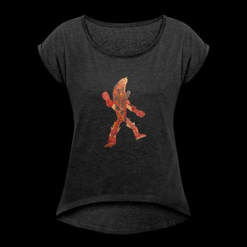 Fire Blast Show Star BY TAiTO - Naisten T-paita, jossa rullatut hihat