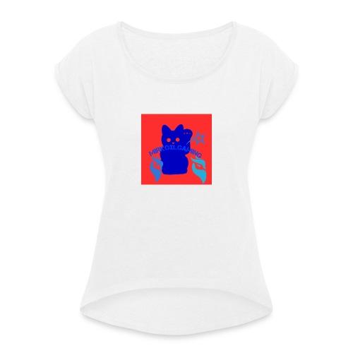Logopit 1562431176055 - Vrouwen T-shirt met opgerolde mouwen