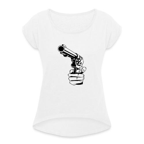 pray for you - T-shirt à manches retroussées Femme
