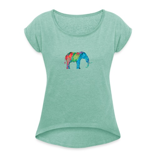 Elefant - Women's T-Shirt with rolled up sleeves