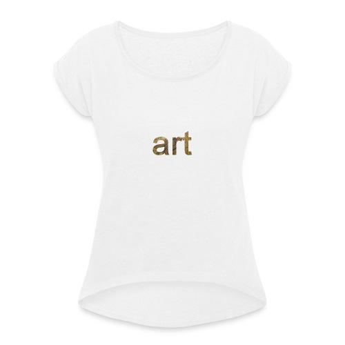 art - T-shirt à manches retroussées Femme