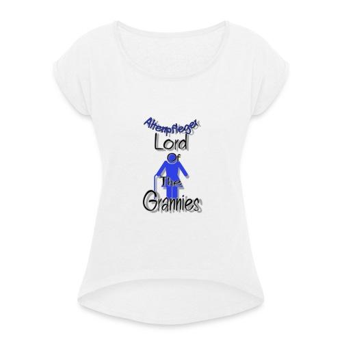 C7B1B2AE E306 44DE AFC8 156826E44034 - Frauen T-Shirt mit gerollten Ärmeln