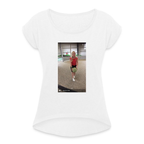 A86CA501 B02B 4C2C 8E63 06F9BF60B339 - Dame T-shirt med rulleærmer