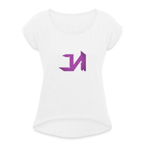Female J&M Clan T-Shirt - Women's T-Shirt with rolled up sleeves