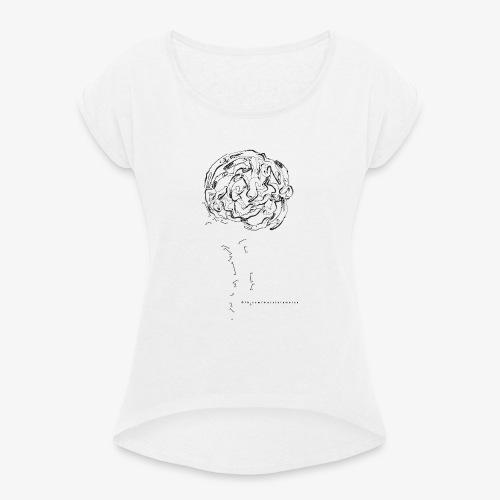 grafica t shirt nuova - Maglietta da donna con risvolti