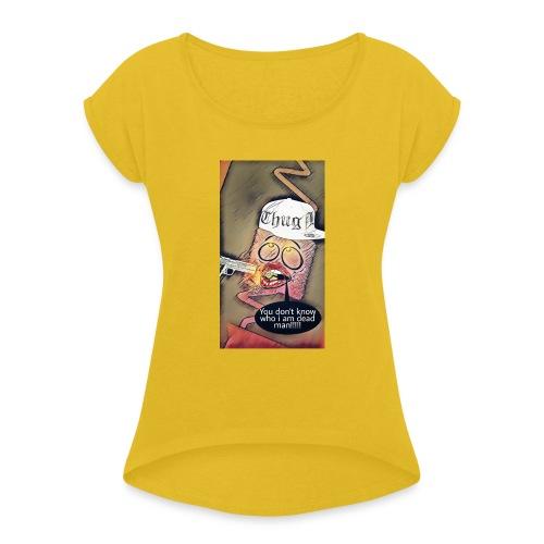 Coussin gangsta😃 - T-shirt à manches retroussées Femme