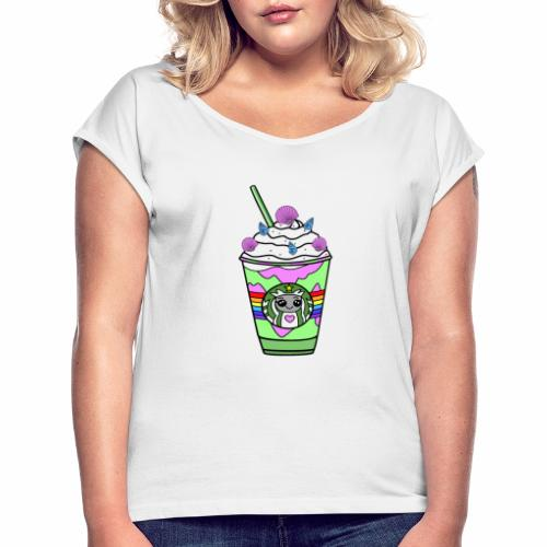Mermaid frappuccino - Women's T-Shirt with rolled up sleeves
